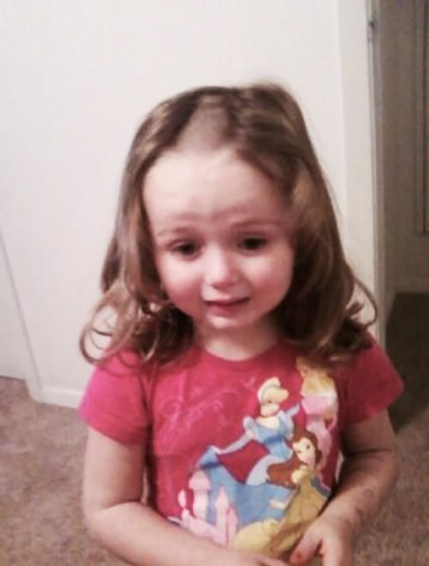 My Client's Daughter Cut Her Own Hair. I Am A Hairdresser. She Asked Me If I Could Fix It. Nope