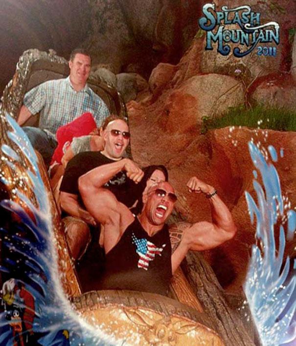 The Rock Smuggles Guns Onto Splash Mountain In Disney