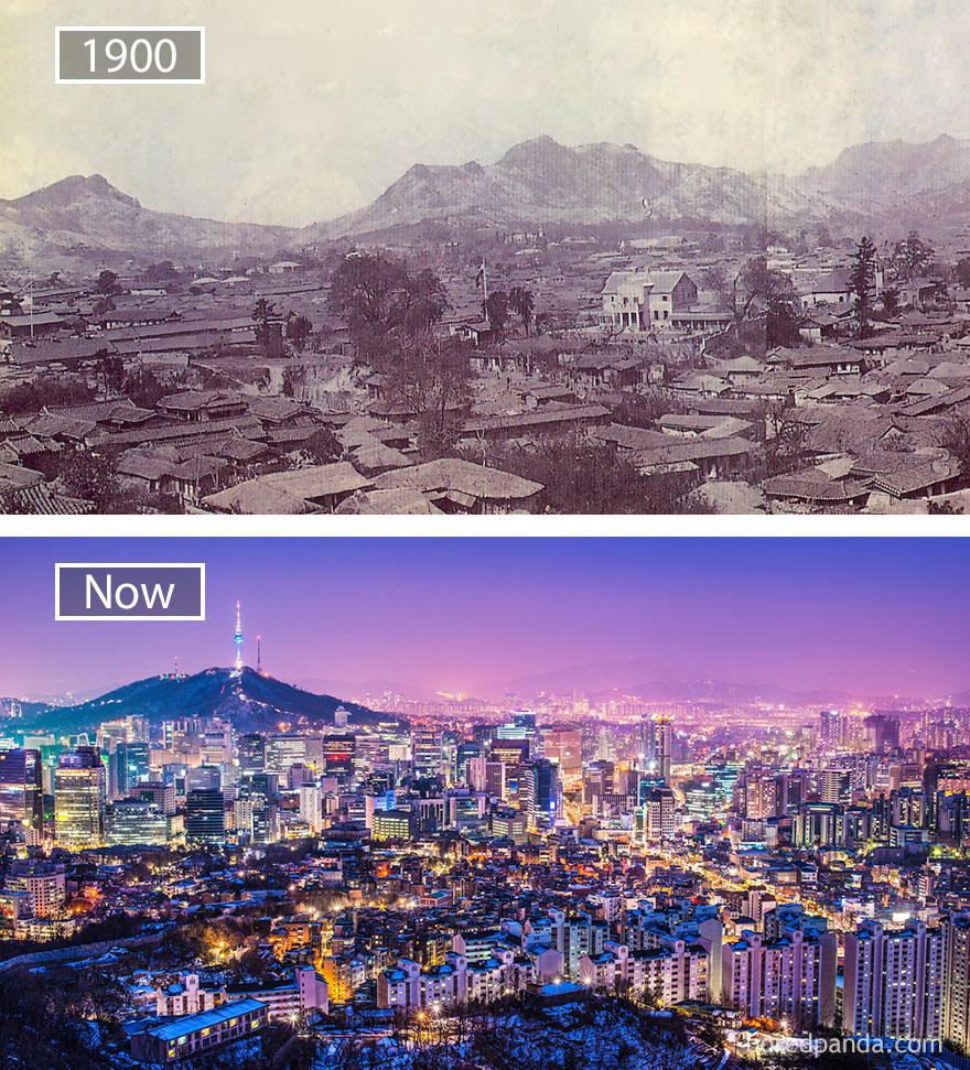 Seoul, South Korea - 1900 And Now