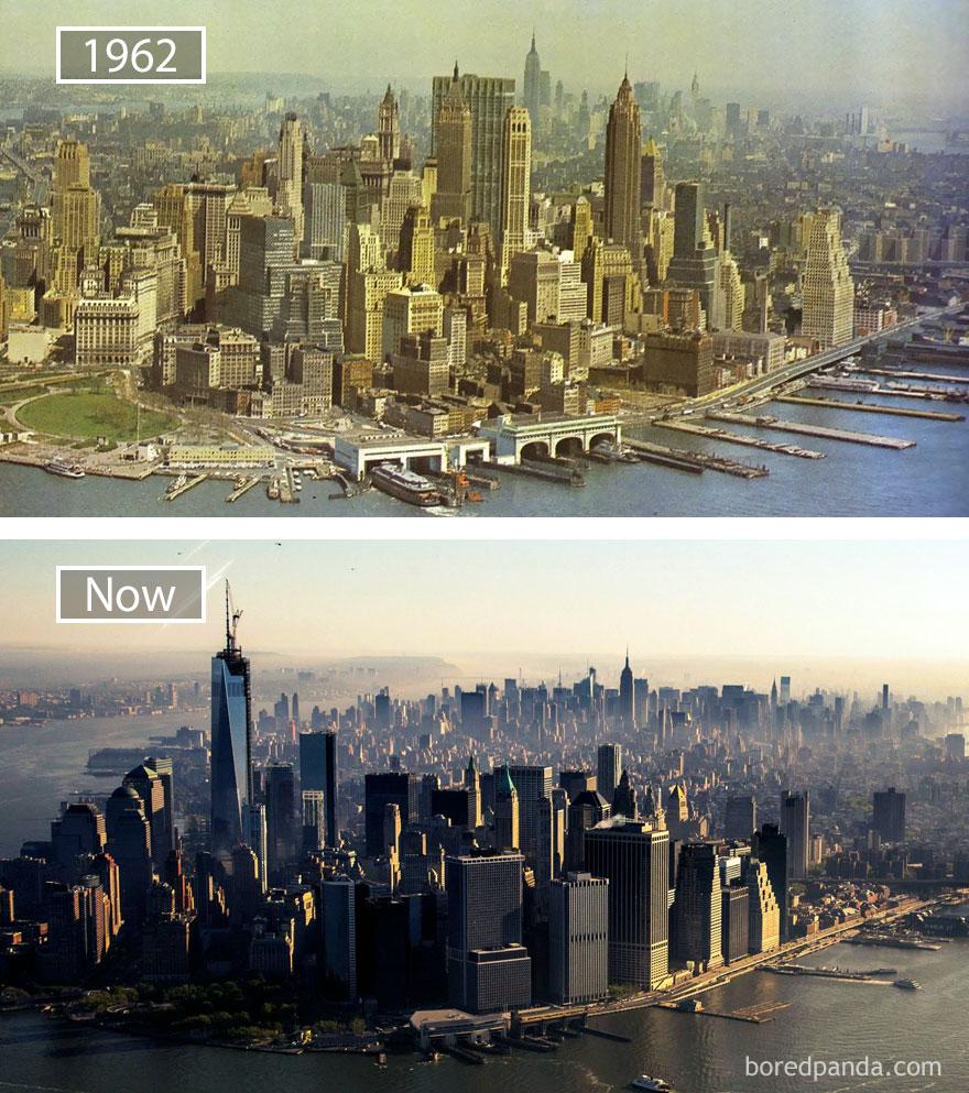 New York, Usa - 1962 And Now