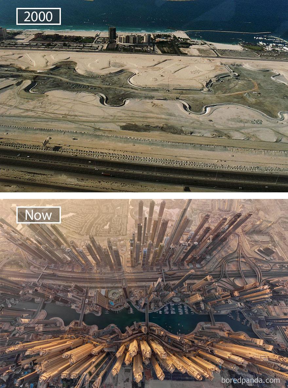 Dubai, United Arab Emirates - 2000 And Now