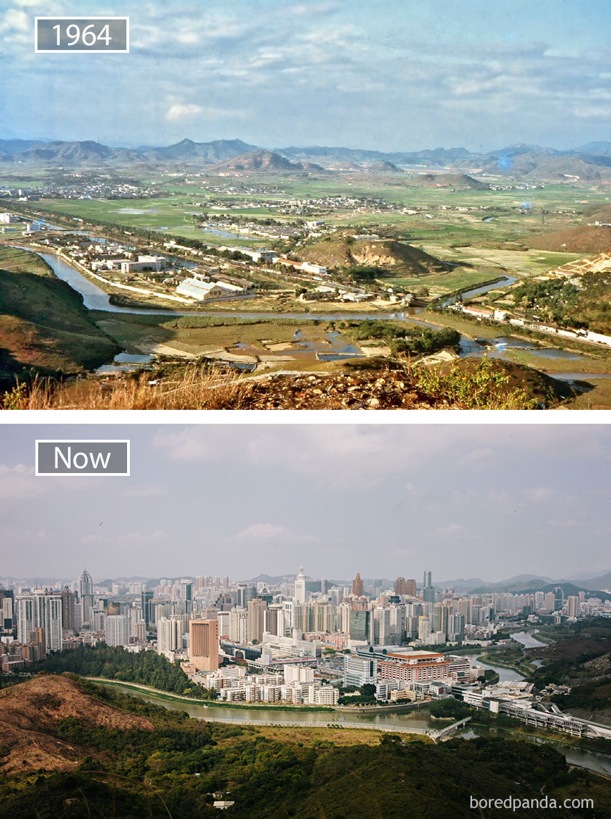 Shenzen, China - 1964 And Now