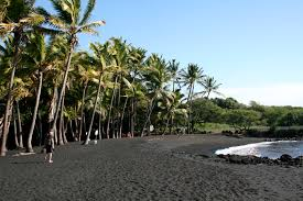 Image result for punaluu black sand beach