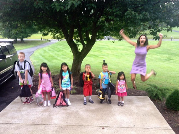 Since Everyone Posting Back To School Pictures, I Present You My Mother And My 6 Adopted Siblings