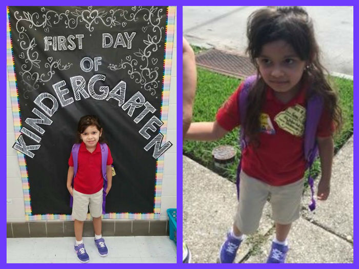 Before & After First Day Of Kindergarten