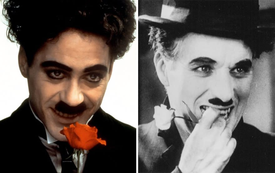 Robert Downey Jr. As Charlie Chaplin In Chaplin (1992)