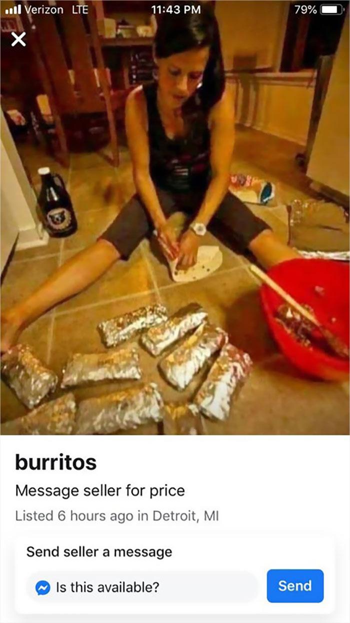 Burritos For Sale..