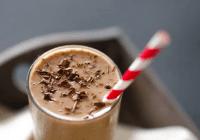 Morgunverðar banana-kaffi smoothie