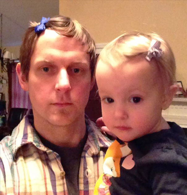 My Daughter Likes Me To Wear Hair bows With Her
