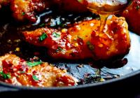 Spicy kjúklingur með hunangi og hvítlauk