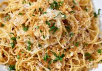 Spaghetti með brúnuðu smjöri, sítrónu og parmesan